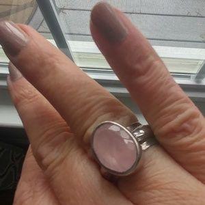 Silpada rose quartz ring